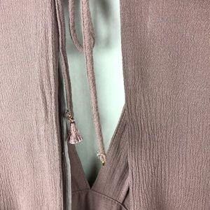 Windsor Dresses - Windsor Mauve Pink Boho Mini Dress Small